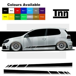 Sticker for VW Polo Golf Lupo GTI GTD R Line Side Stripes 3dr 5dr Scirocco Decal