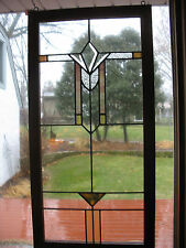New listing Vintage Craftsman Style Stained Glass Window
