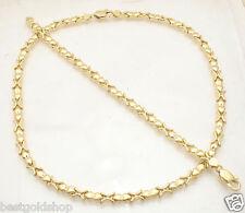 Hugs & Kisses Bracelet Necklace Set 14K Yellow Gold Clad Silver 925