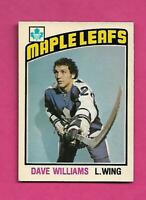 1976-77 OPC # 373 LEAFS DAVE TIGER WILLIAMS ROOKIE EX-MT CARD (INV# D2061)