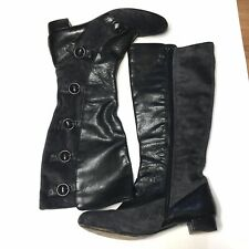 Steampunk Victorian Leather Boots Womens 8.5 Born Crown Velvet