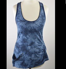 Karen Millen dusk blue striped vest top size UK 8-10
