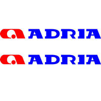 SET OF 4 ADRIA 70cm X 8cm LOGO CARAVAN REPLACEMENT STICKERS SET DECALS GRAPHICS