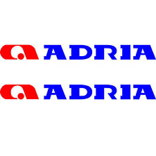 SET OF 4 ADRIA 70cm X 8cm LOGO CARAVAN REPLACEMENT STICKERS SET DECALS GRAPHICS