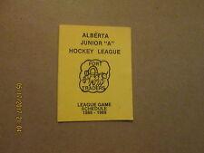Alberta Junior A Hockey League Fort Traders 1988-89 Logo Hockey Pocket Schedule