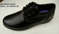 Women Soft Comfy Walking Work Shoes Non Slip Resistant PU Leather Lace Up TM966