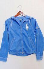 RALPH LAUREN POLO Men's S Swimwear JACKET Windbreaker Hoodie Big Pony Light Blue