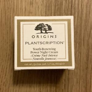 origins plantscriprion youth-renewing power night cream 1.7 oz/ 50 ml FULL SIZE