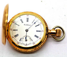 Antique Ladies Waltham, 3-OS 14k Solid Gold Pocket Watch w/ Hunter Case