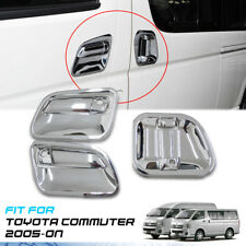 CHROME 3 DOORS HANDLE BOWL COVER TRIM VAN FOR TOYOTA HIACE COMMUTER 2005-ON