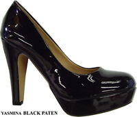 Women Classic Round Toe Fashion Platform Stiletto high Heel Pump shoes SZ: 5--10