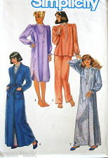 Vtg 80s nightgown pattern pajama sz 10 12 robe oop