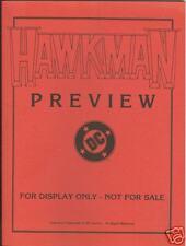 Hawkman #1 1993 DC preview copy