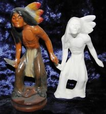 Ceramic Ready to Paint Bisque small Native American Indian