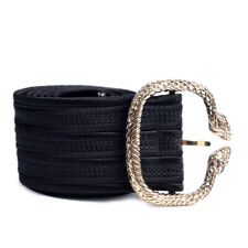 ROBERTO CAVALLI Belt Black With Snake Buckle Size Small WR 182