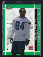 2007 TOPPS FINEST GREEN REFRACTOR RC CRAIG DAVIS #129 CHARGERS LSU TIGERS /199