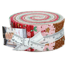 "Moda FABRIC Jelly Roll ~ SUGAR PLUM CHRISTMAS ~ Bunny Hill Designs 2 1/2"" Strips"