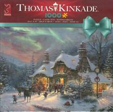 Thomas Kinkade 1000 Pc Jigsaw Puzzle Santa's Night Before Christmas NIB