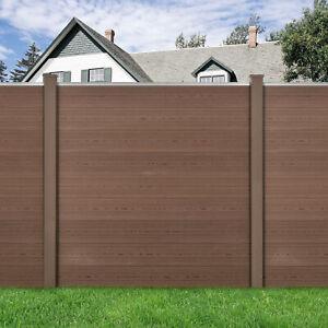 B-WARE WPC Gartenzaun mit Pfosten Sichtschutz Windschutz Lamellenzaun 180x180cm