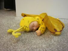 2001 Anne Geddes Sleeping Baby Butterflies Doll Wing Yellow Plush Bean Filled 9�
