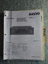 New listing Sanyo er520 service manual original repair book car radio stereo tuner tape deck