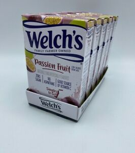 Welch's Passion Fruit Zero Sugar 6 Boxes SINGLES TO GO Drink Mix No Aspartame