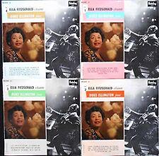 ELLA FITZGERALD SINGS THE DUKE ELLINGTON SONGBOOK Vol 1-2-3-4 4xLP French 1958