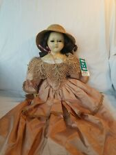 New Listing Antique1830-1860 English Wax over Papier Mache Doll good condition 21 inch