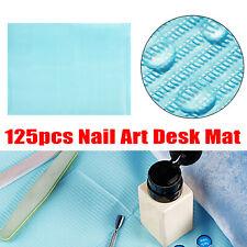 125Pcs Nail Art Paper Table Mat Pad Beauty Salon Practice Manicure Waterproof