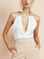 Finders Keepers Khalo Cami White keyhole Strappy Low Summer Vest Top  £89