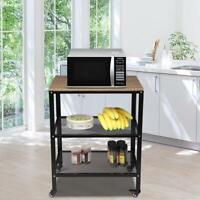 New 3-Tier Microwave Oven Cart Bakers Rack Kitchen Utility Storage Shelves Stand