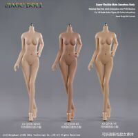 "JIAOU DOLL 1/6 Girl Body Model Seamless Flexible 12"" Action Figure Small Bust"