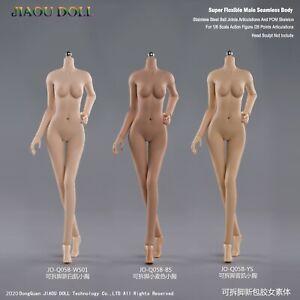 JIAOU DOLL 1/6 Girl Little Breast Seamless Suntan/Pale/Tan Skin Figure Body