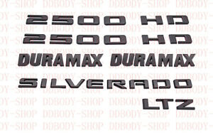 2020-2021 Chevrolet  Silverado 2500 HD LTZ Duramax Black Emblem Kit OEM