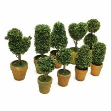 Artificial Plastic Trees In Pots Plants Potted Garden Yard Outdoor Indoor