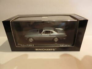 MINICHAMPS - VOLVO P1800 COUPE (1969) - SILVER GREY - Mint Condition 1:43 Scale