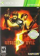 Resident Evil 5 XBOX 360! ZOMBIES, WALKING DEAD ACTION, SHOOT, FIGHT, GUN,