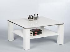 RABEA Hochglanz Tisch 75x75 Cm Couchtisch Wohnzimmertisch Fürs Wohnzimmer  Weiß