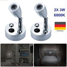 2X Wohnwagen Wohnmobil Beleuchtung Led Aufbausport Schwanenhals 12v, 3W,6000K DE