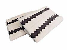 """Malian White Mud Cloth Textiles S/2 42"""" by 60"""" each"""
