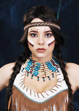 Blue Beaded Native Indian Collar Necklace