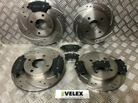 DRILLED GROOVED FRONT& REAR BRAKE DISCS & PADS FIESTA ST MK7 1.6 ST200 2012-2018