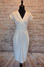 Modcloth Marvelous Worldwide Dress NWOT 10 Closet White Sheath surplice neckline
