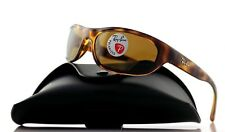 POLARIZED NEW Genuine RAY-BAN Predator Tortoise Wrap Sunglasses RB 4033 642/47