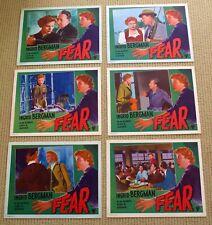 FEAR lobby card set INGRID BERGMAN Roberto Rossellini MATHIAS WIEMAN