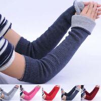 Customize Winter Ladies Warm Mittens-Wrist Cashmere Blend Long Fingerless Gloves
