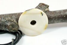 Donut Anhänger MOOKAIT, ca. 40 mm, mit Lederband PI-Stein PIscheibe