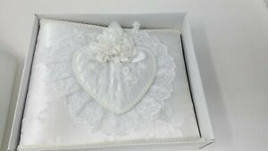 White Fabric Photo Album 220 Pockets for 3x5 or 4x6 Wedding Baby Family Pictures