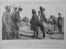 1916 INDIAN ARMY OFFICERS WATCH FRENCH CARBINE DEMONSTRATION WWI WW1