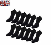 10 Pairs Mens Black Trainer Ankle Liner Summer Gym Sports Socks UK Seller
